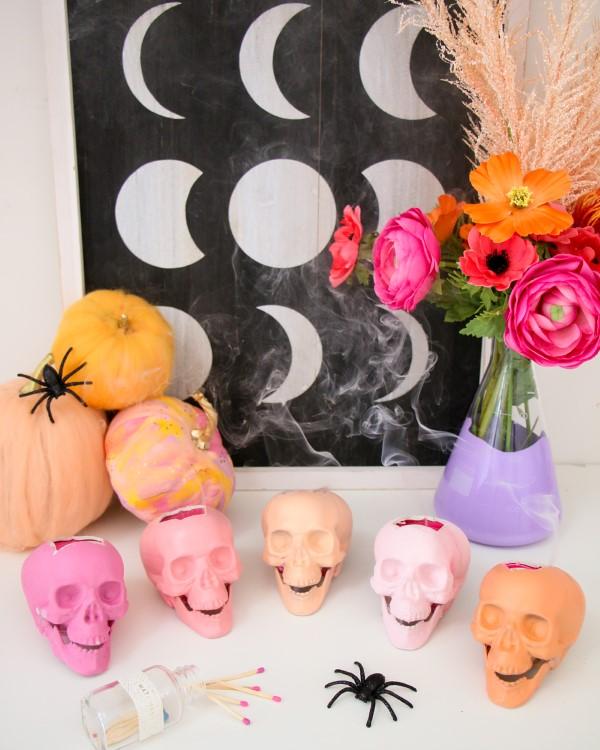 Halloween Buffet – Deko Ideen und Tipps für eine tolle Gruselparty regenbogen farben deko ideen