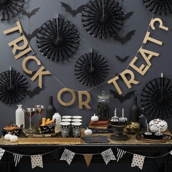 Halloween Buffet – Deko Ideen und Tipps für eine tolle Gruselparty schwarz gold deko