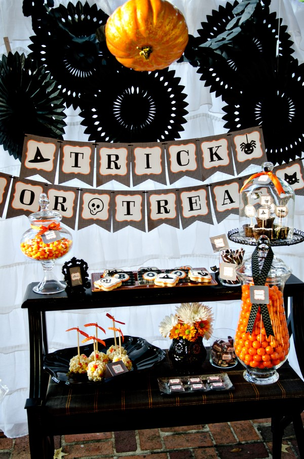 Halloween Buffet – Deko Ideen und Tipps für eine tolle Gruselparty schwarz orange deko ideen