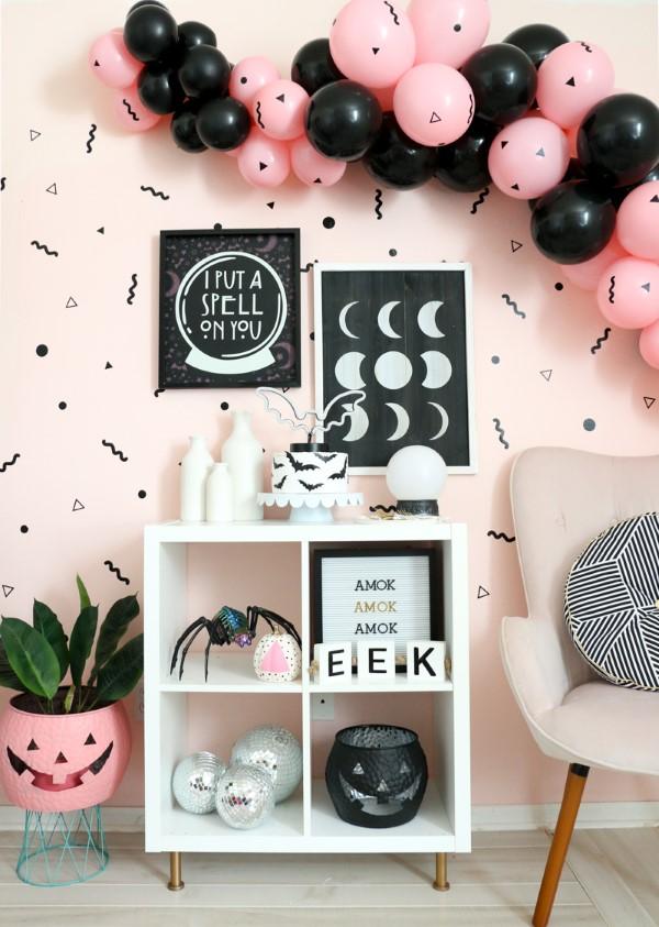 Halloween Buffet – Deko Ideen und Tipps für eine tolle Gruselparty schwarz und rosa niedlich gruselig