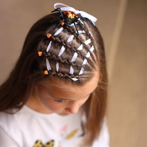 Halloween Frisuren Ideen und Tipps für ein gelungenes Grusel-Outfit kinder frisur