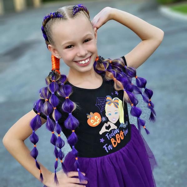 Halloween Frisuren Ideen und Tipps für ein gelungenes Grusel-Outfit kinder frisuren lila