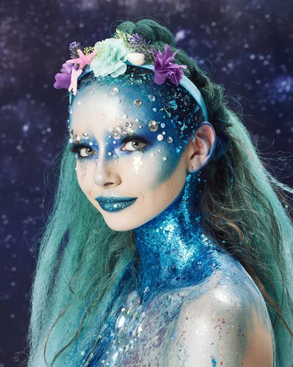 Halloween Frisuren Ideen und Tipps für ein gelungenes Grusel-Outfit meerjungfrau frisur und makeup