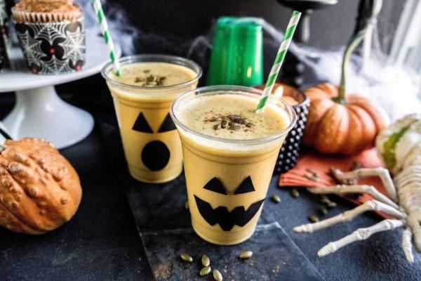 Halloween Getränke – 3 alkoholfreie Rezeptideen für eine tolle und nüchterne Party kürbis smoothie gläser