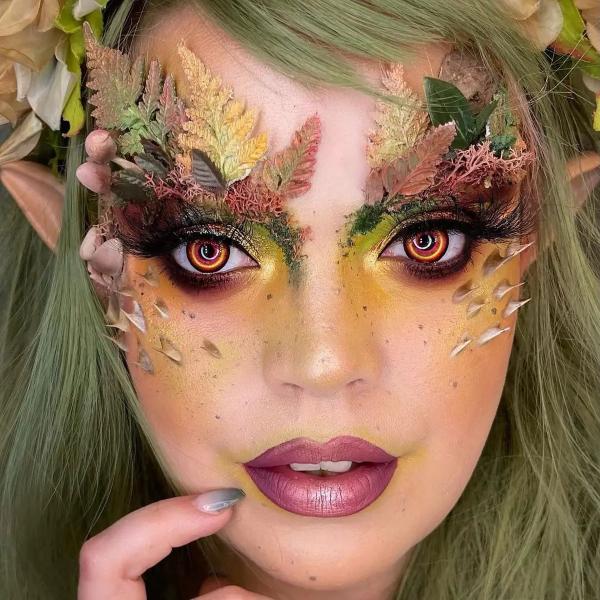 Halloween Makeup Ideen und Tipps für Ihr diesjähriges Kostüm druid fee naturmaterialien