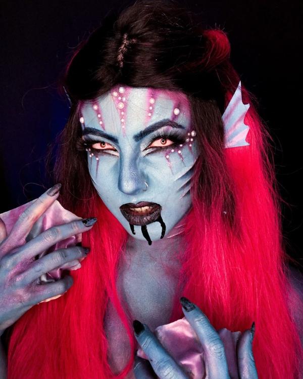 Halloween Makeup Ideen und Tipps für Ihr diesjähriges Kostüm gruselige meerjungfrau ideen