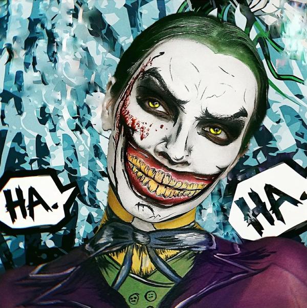 Halloween Makeup Ideen und Tipps für Ihr diesjähriges Kostüm joker harley quinn kombi