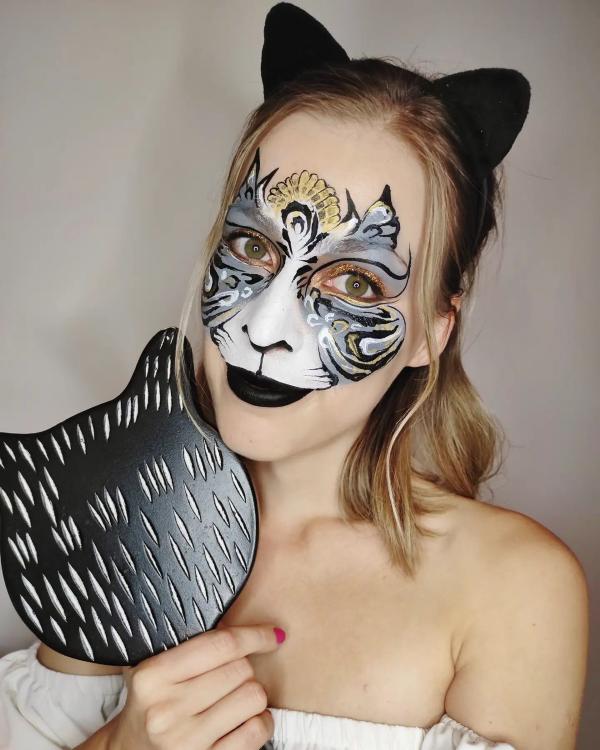 Halloween Makeup Ideen und Tipps für Ihr diesjähriges Kostüm katze kostüm halloween