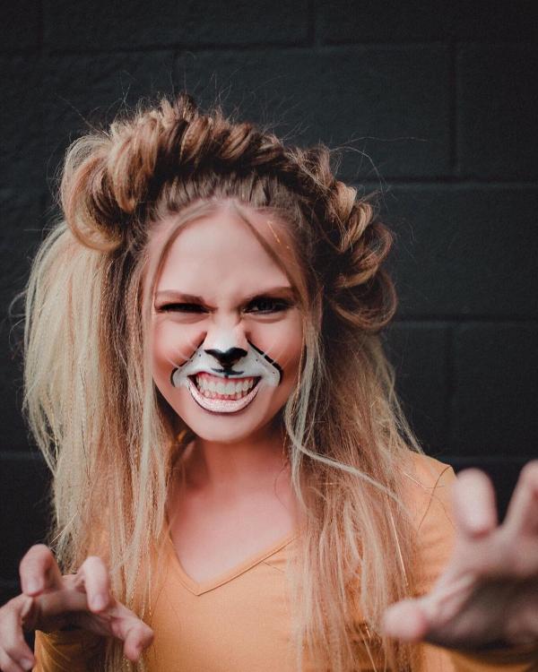 Halloween Makeup Ideen und Tipps für Ihr diesjähriges Kostüm löwe katze ideen