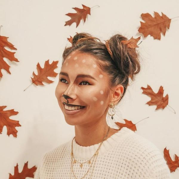 Halloween Makeup Ideen und Tipps für Ihr diesjähriges Kostüm reh hirsch kostüm