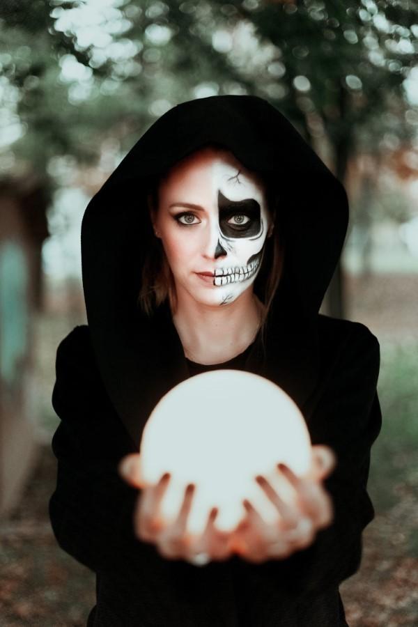 Halloween Makeup Ideen und Tipps für Ihr diesjähriges Kostüm schädel ideen zauber