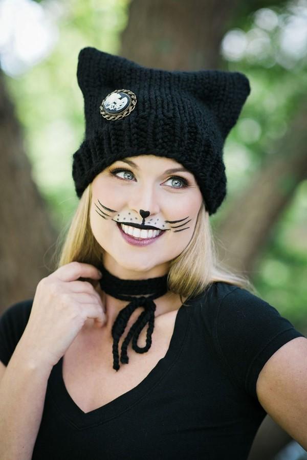 Halloween Makeup Ideen und Tipps für Ihr diesjähriges Kostüm schwarze katze