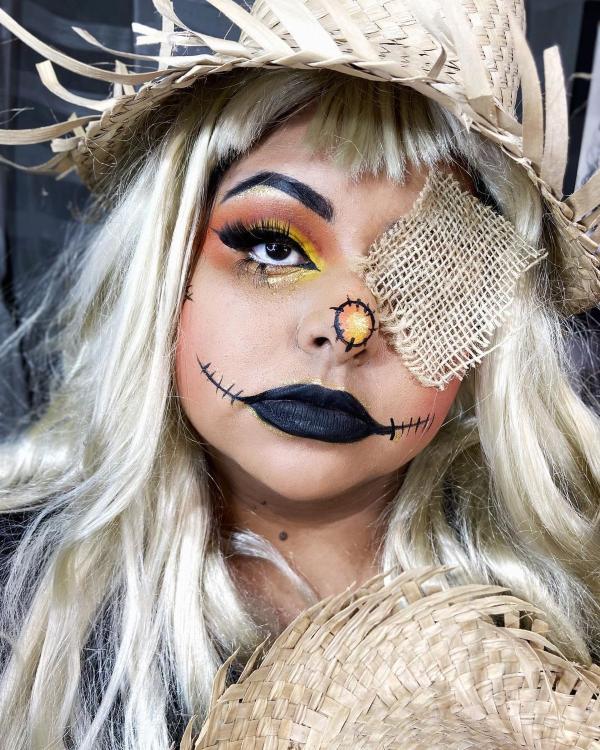 Halloween Makeup Ideen und Tipps für Ihr diesjähriges Kostüm vogelscheuche ideen hübsch