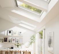 Moderne Räume mit Dachfenster und ihre Vor-und Nachteile