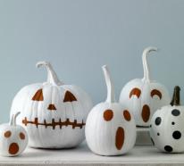 Weiße Halloween Deko – stilvolle Ideen, die doch Schreck erregen