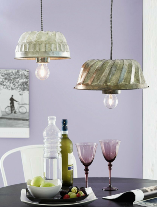 backform lampenschirm basteln esszimmer