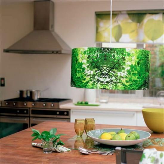 botanischen lampenschirm basteln papier