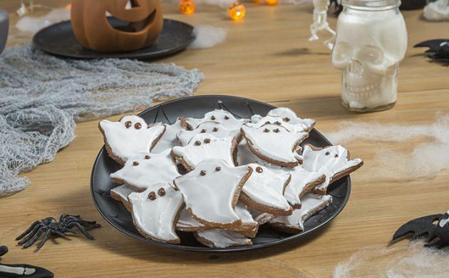 Gespenster Halloween Kekse backen