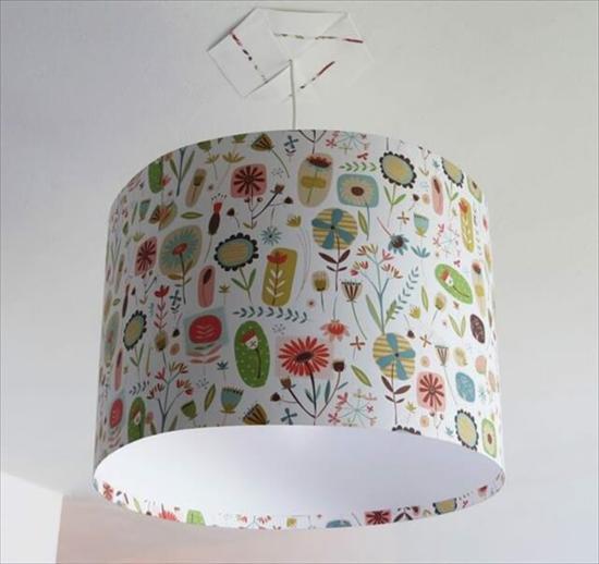 geschenkpapier lampenschirm basteln