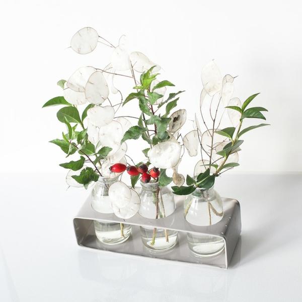 herbstdeko hagebutten vase schöne wohnungsdeko