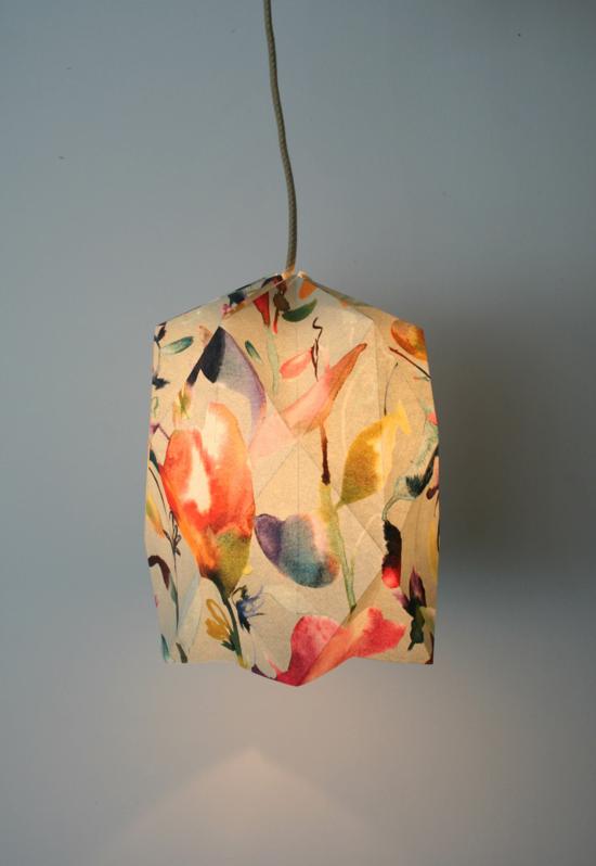 kunstvollen lampenschirm basteln aus stoff