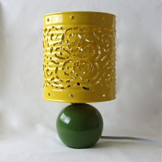 lampenschirm basteln aus blechdose