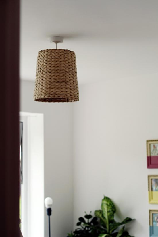 lampenschirm basteln aus korb