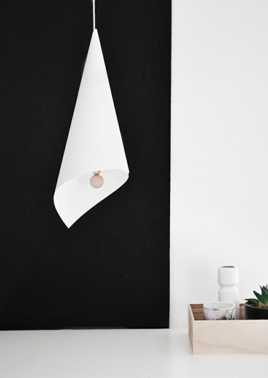 lampenschirm basteln minimalistisch tüte