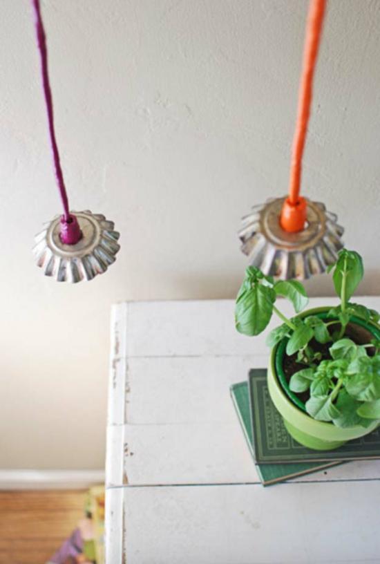lampenschirm basteln mit metall muffin formen
