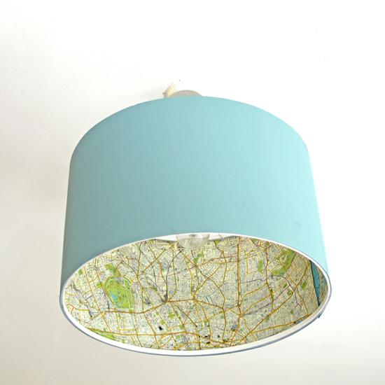 landkarte lampenschirm basteln