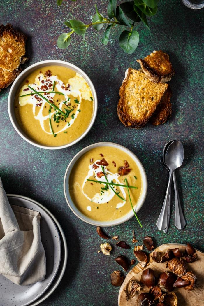 maronen rezepte kandierte maronen und kuerbis creme suppe