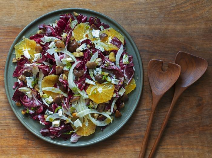 maronen rezepte kandierte maronen und kuerbis salat
