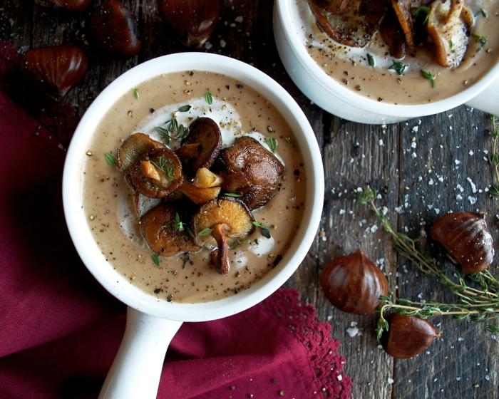 maronen rezepte kandierte maronen und kuerbis suppe