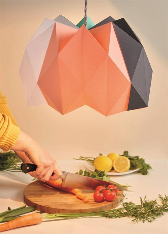 origami lampenschirm basteln
