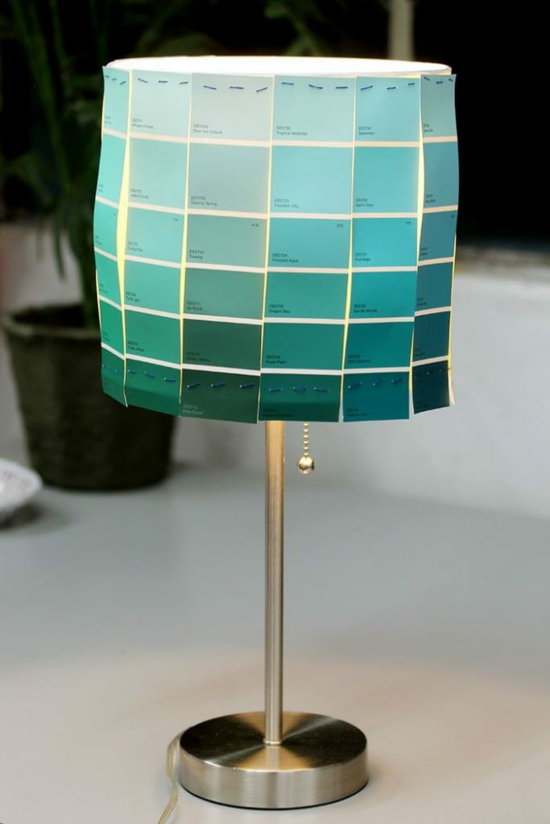 originellen lampenschirm basteln papier
