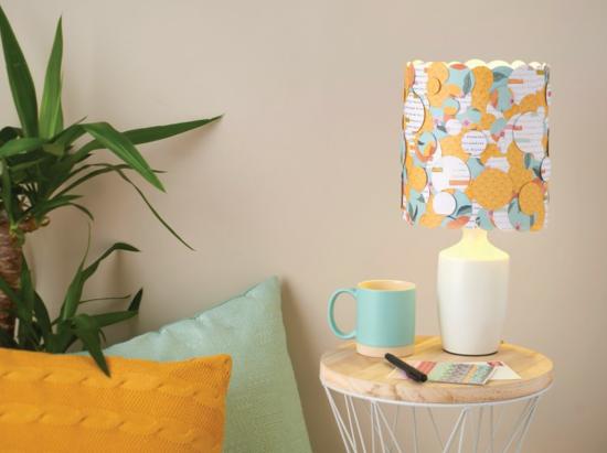 papier lampenschirm basteln modernes design