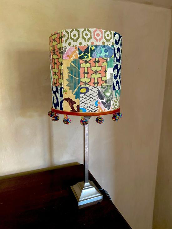 patchwork lampenschirm basteln