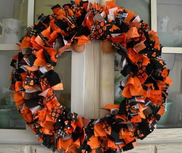 türkranz halloween orange schwarz halloween stimmung herbstfarben
