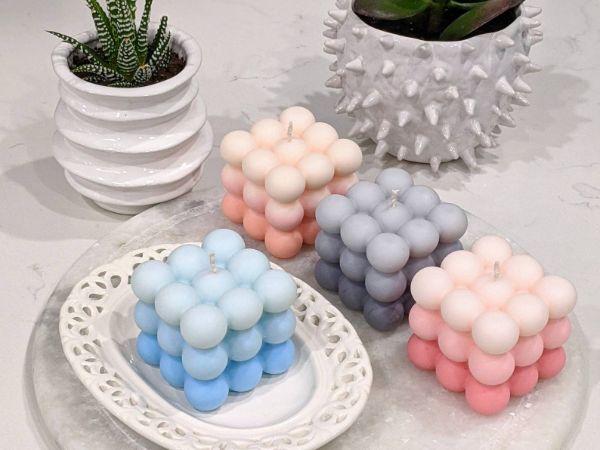 verschiedene schöne tolle Nuancen Bubble Candles