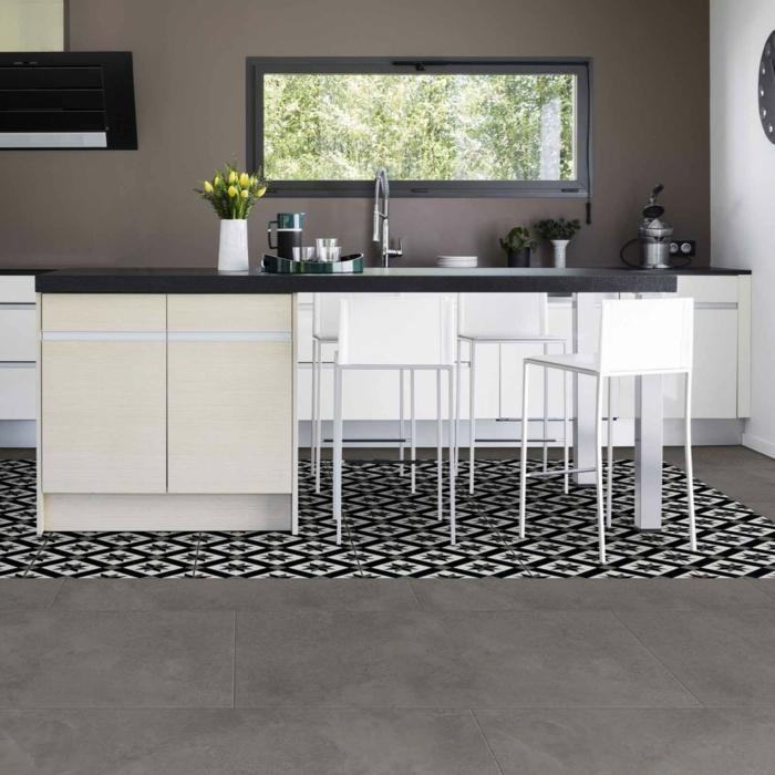 vinylboden küche baige nussig braun
