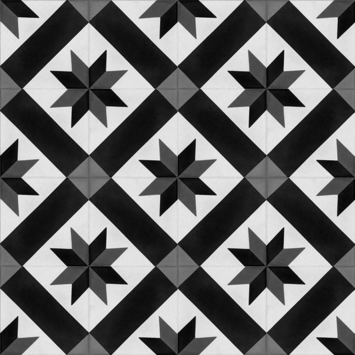 vinylboden küche baige schwarz weiss