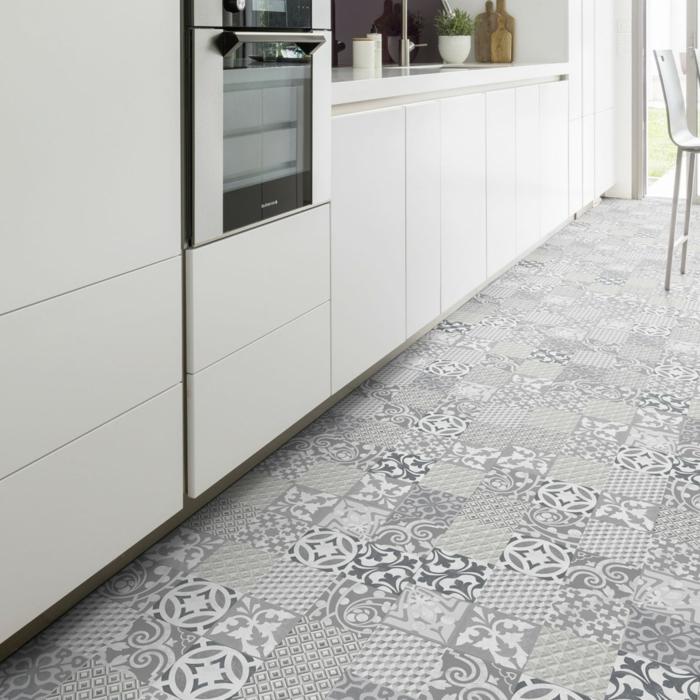 vinylboden küche baige und verschachtelt