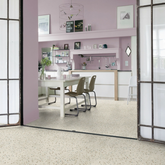vinylboden küche baigerosa
