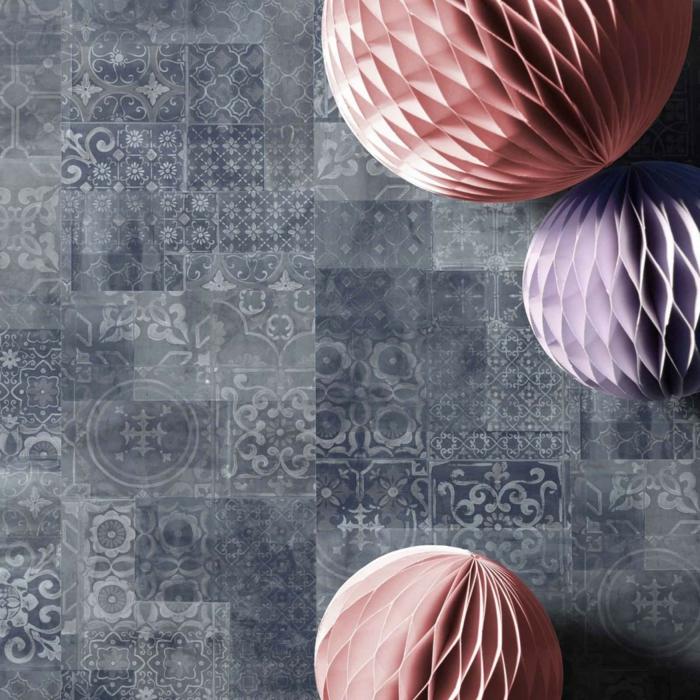 vinylboden küche grau braun